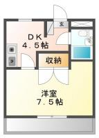 安宅 マンション 1DK 302間取り図