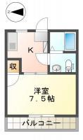 蔵本ハイツ 206間取り図