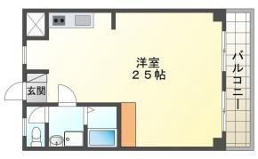 庄町 マンション 1R 505間取り図