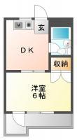 佐古三番町 マンション 1DK 402間取り図