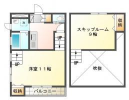 南庄町 アパート 1DK 102間取り図