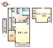 住吉4丁目 アパート 1DK 201間取り図