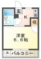 中前川町 マンション 1K 103間取り図