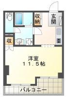 庄町 マンション 1K 206間取り図