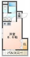 庄町 マンション 1R 201間取り図