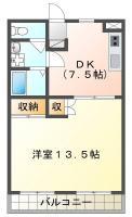庄町 マンション 1DK 403間取り図