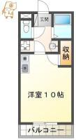 徳島町 マンション 1R 303間取り図