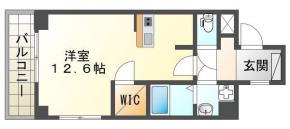 吉野本町 マンション 1R 604間取り図