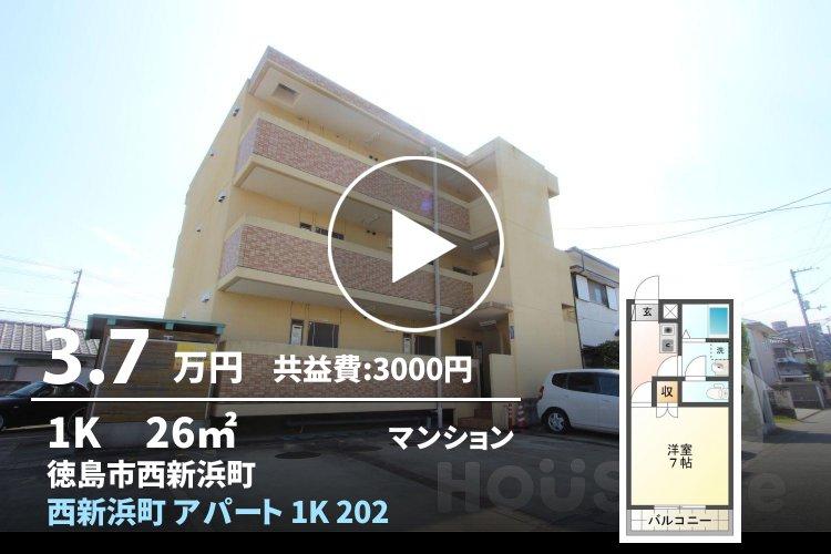 西新浜町 アパート 1K 202
