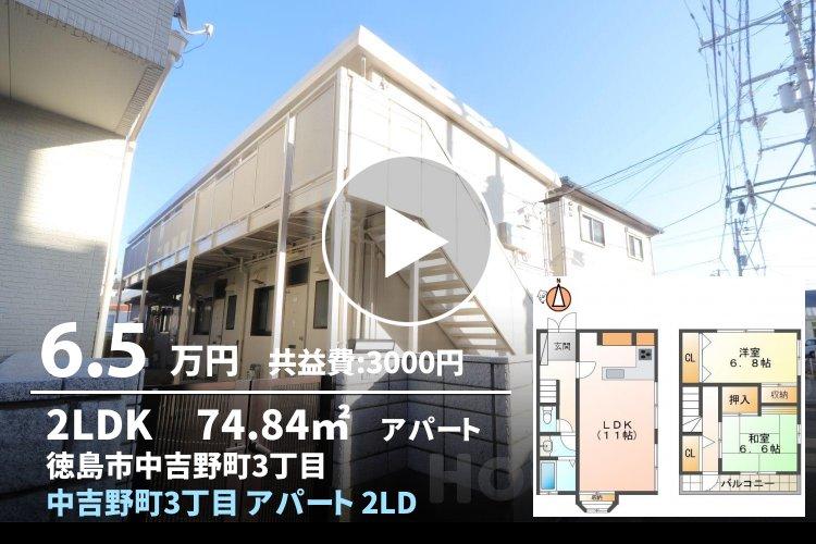 中吉野町3丁目 アパート 2LDK 1
