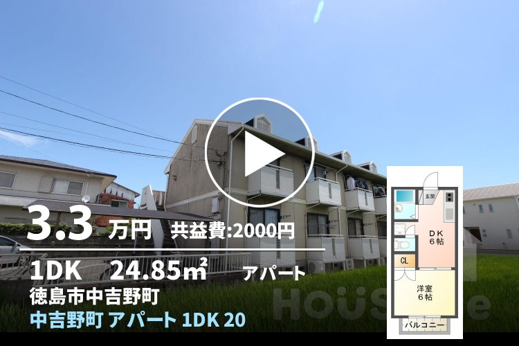 中吉野町 アパート 1DK 201